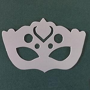 Antifaz 2 decorativo plata mate Bond papel