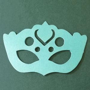 Antifaz 2 decorativo verde menta Bond Papel