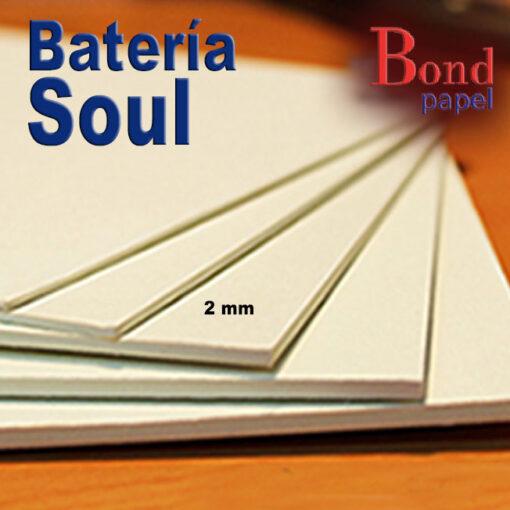 bateria-soul-2mm Bond papel