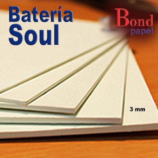 bateria-soul-3mm Bond papel