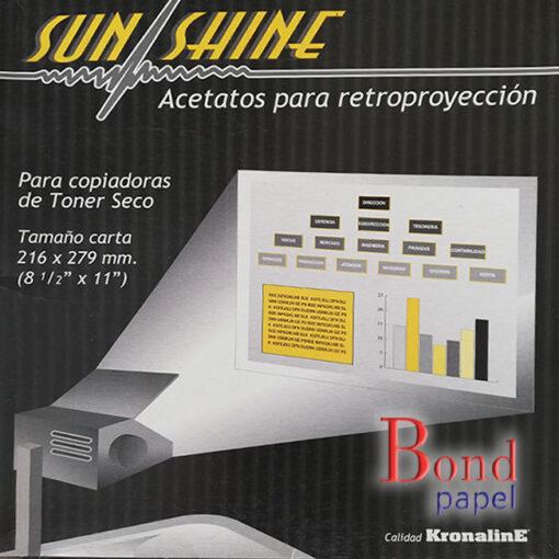 acetatos carta-toner Bond papel
