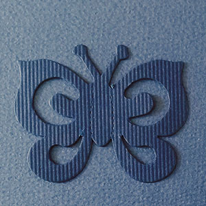 Mariposa Espiral Azul Marino Bond papel