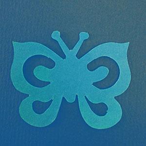 Mariposa Espiral Azul Bond papel