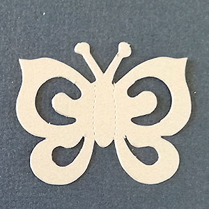 Mariposa Espiral Terrazo Bond papel