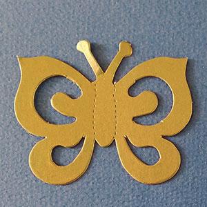 Mariposa Espiral Oro Viejo Bond Papel