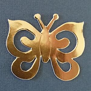 Mariposa Espiral Oro Brillante Bond Papel
