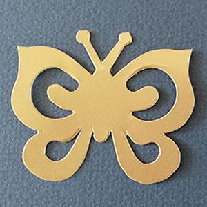 Mariposa Espiral Oro Mate Bond papel