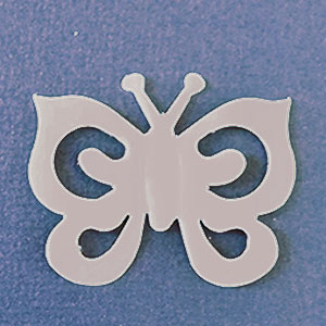 Mariposa Espiral Planta Mate Bond papel