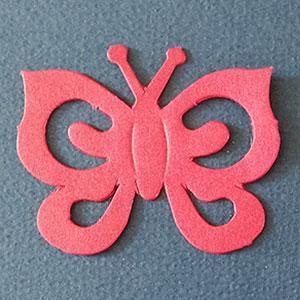 Mariposa Espiral Rojo Bond Papel