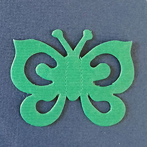 Mariposa Espiral Verde Bond papel
