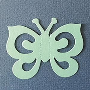 Mariposa Espiral Menta Bond papel