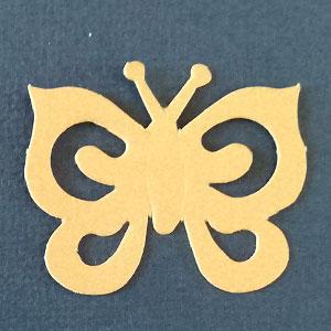 Mariposa Espiral Amarillo Bond papel
