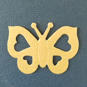 Mariposa Corazon Amarilla Bond papel