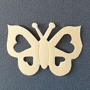 Mariposa Corazon marfil Bond papel