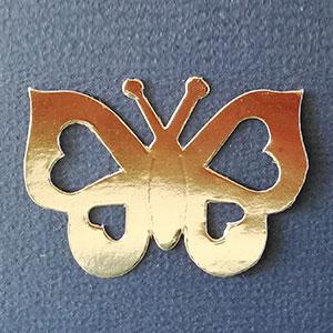 Mariposa Corazon Oro Brillante Bond papel