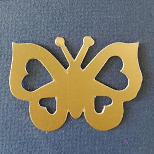 Mariposa Corazon Oro Mate Bond papel