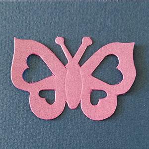 Mariposa Corazón Orquídea Bond papel