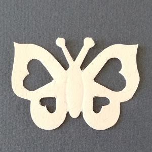 Mariposa Corazon Terrazo Bond papel