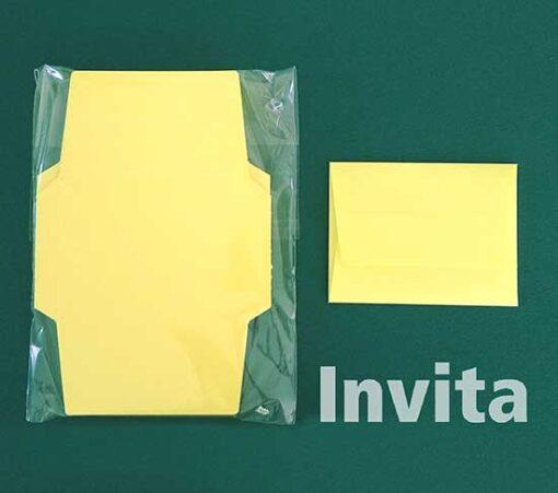 SobreTarjeta 10amarillo-limon Bond papel