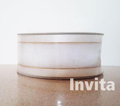 blanco 1 1_2 organza seda filo oro Bond papel