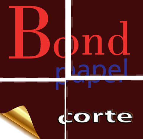 Corte Bondpapel