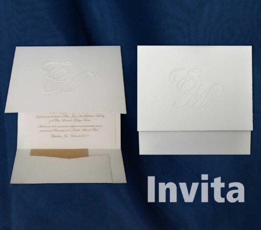 invitación sobre egipto 16x16 cms