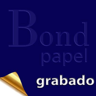grabado Bond papel