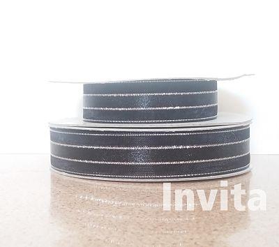 negro 5_8 organza seda filo plata Bond papel