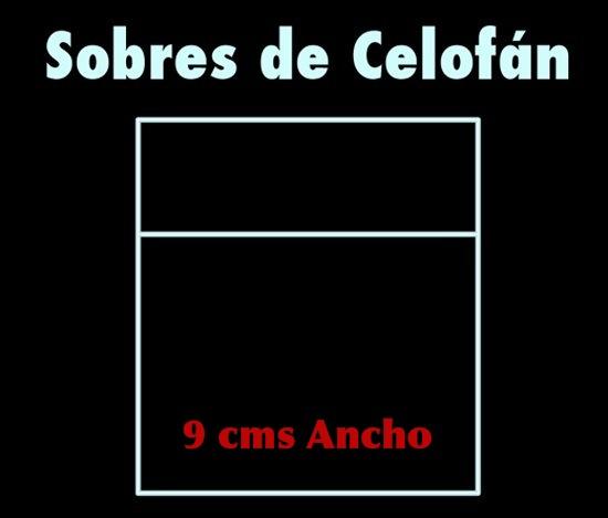 Celofan Sobre base 9 cms.